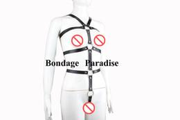 Wholesale Women Sex Pvc - Bondage female restraint bdsm free Restrict women Slave Body sm bondage restraints harness PVC sex products