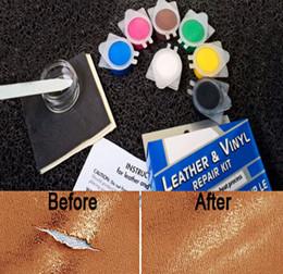Wholesale Heating Liquid - Newest Auto Car Seat Sofa Coats Holes Scratch Crack Rip Leather Repair Tool No Heat Liquid Leather Vinyl Repair Kit