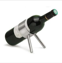 2019 champagnerhalter Edelstahl Weinregal Bier Flaschenhalter Regal Lagerung stehen moderne Silber Champagner Hänge Racks Bar Werkzeuge Weinhalter KKA1888 günstig champagnerhalter