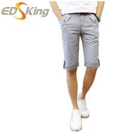 Wholesale Casual Mid Length Beach Dresses - Wholesale- Mens Shorts Summer 2016 Plaid Ruched Casual Dress Cotton Beach Men's Beach Male Bermuda Shorts