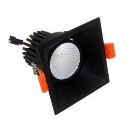 LED downlights 12w COB Ultrabright led spot spot pour salon noir blanc plafonnier carré chambre lumière anti-reflets AC85-265V ? partir de fabricateur
