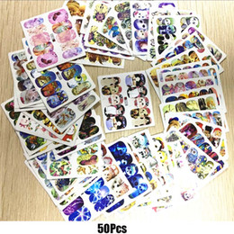Wholesale Nail Foiling - New Nail Art Sticker 50pc Nails Wraps Animal Cartoon Water Transfers Nail Art Foil Manicure Decals Decoration DIY Nail 2017 Hot