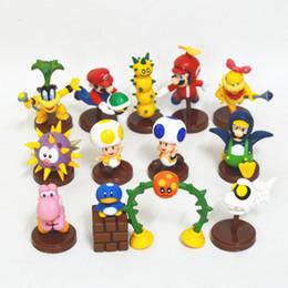 Wholesale Super Mario Action Figures Collection - NEW Super Mario 3 Style Decoration Bros Luigi Action Figures 13pcs   set new arrival yoshi mario Gift Collection OPP