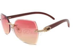 oro in miniatura Sconti 2017 nuovi occhiali da sole con diamanti T8300818 di altissima qualità con originali braccia in legno e lenti in miniatura, oro Dimensioni: 60-18-135 mm
