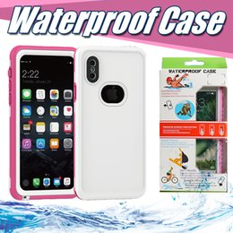 Wholesale Water Proof Black Box - Waterproof Full Cover Protective Case For Iphone X 8 7 Plus 6 6S Samsung S8 Plus Swimming Water Proof Case With Retail Package Box MOQ:10pcs
