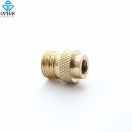 "Wholesale Airbrush Adapter - female bnc OPHIR Badger Air Brush Compressor Adapter M5-0.5 female -1 8""BSP male Airbrush Accesories Connectors _AC027"