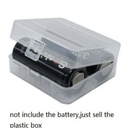 Wholesale Rechargeable Batteries Chinese - Home Organization box battery protective Hard Plastic Case battery Holder Transparent Clear 26650 Rechargeable battery Storage Boxes bins