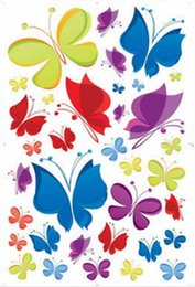 Pegatinas de mariposa para la habitación de las niñas online-60 * 90 cm PVC mariposa pegatinas de pared calcomanía de arte extraíble papel tapiz mural pegatina para habitación de niños dormitorio niñas sala de estar adhesivo