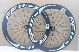 Wholesale Carbon Cycle Race Wheels - Ultra light blue decal FFWD F6R 60mm cycling wheelset 700c Carbon road racing wheels road bike bicycle wheelset free shipping