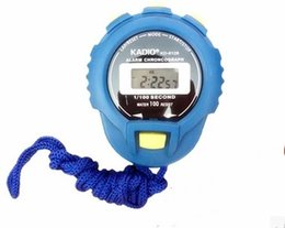 Wholesale Waterproof Sports Timer - Professinal Quartz Timer KADIO KD6128 Waterproof Alarm Chronograph electronic stopwatch running timer KD-6128 sports stopwatch timer LLFA