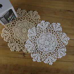 """Wholesale Doilies Tablecloth - Wholesale- Vintage Crocheted Doilies Tablecloth 8"""" 20CM , Crochet Placemats cotton cup mat pad Physical picture 100%"""