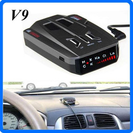 Wholesale Car Radars - New 12V Car V9 Radar Detectors LED Display Russia   English X K NK Ku Ka Radar Laser Detector