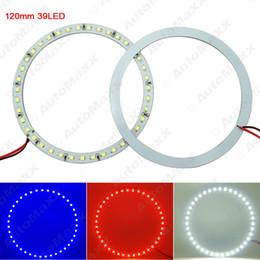 Wholesale halo lights - FEELDO 2pcs lot 120mm Car Angel Eyes 1210 3528 39SMD LED Headlight Halo Ring Angel Eye Lighting White Red Blue #2673