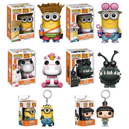 Wholesale Despicable Toys Pvc - Funko pop Despicable Me a small yellow people despicable me 3 hand thief daddy doll pop 418# 419# 420# 422#