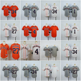 Wholesale Boys Shorts George - 2017 MLB Youth Houston Astros Jerseys 34 Nolan Ryan 27 Jose Altuve 4 George Springer 1 Carlos Correa Blank Kids Baseball Jerseys Stitched