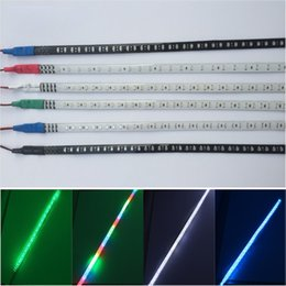 Wholesale Led Strip Lights Motorcycle - 32 LEDs 30cm 12V Auto LED Flexible Flow Light Car Motorcycle Waterproof 2835 Strip Lamp IP65