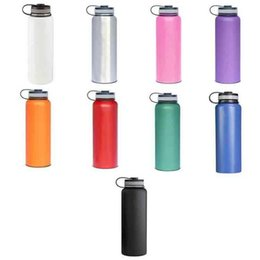 Wholesale Plastic Kettle - Hot outdoor water bottle 40oz 18oz 32oz Insulated 304 Stainless Steel Water Bottle Wide Mouth big capacity travel water bottles