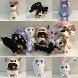 Wholesale Wholesale Life Size Dolls - Wholesale-The Secret Life of Pets Mini size 15-28cm dog Plush Toys dolls Mike&rabbit&Cat&Pomeranian Quality toys Decoration