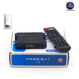 Wholesale Digital Tv Receiver Europe - Freesat V7 with 1 Year Europe CCCAM 3 Clines and 1 USB WiFi Free High Digital Satellite TV receiver 3G DVB-S2 Set-top Box