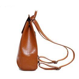 Wholesale back school book bags - Wholesale- 2017 Winter Design PU Women Leather Backpack College Student High School Bags for Ladies Girl Teenager Back pack For Laptop book