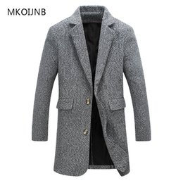 Wholesale Mens Winter Hooded Trench Coats - Wholesale- New Fashion M-5XL 2017 Long Trench Coat Men Winter Mens Overcoat Casual Brand Thick Pea Trench Coats Male Cotton Jackets