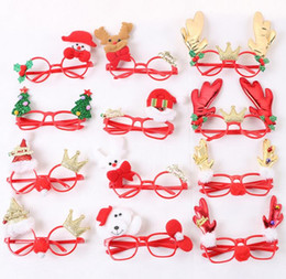 Wholesale Santa Fancy Dress - New Year Favor Christmas Glasses Santa Claus Snowman Eyeglasses Frame Goggle Spectacles Party Fancy Dress Costume Accessory prop gift red