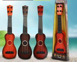 Wholesale Ukulele Classic - Children's Educational Toys Simulation Can Play The Ukulele Plastic Instrument Classical Mini Classic Musical Instrument Guitar