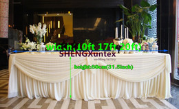 Wholesale Table Cloths Skirts - New Design Ivory Color Ice Silk Table Skirt \ Table Cloth Skirting