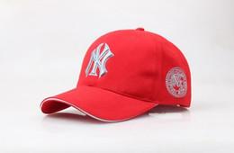 Wholesale Ny Cap Color - 4 Color Yankees Hip Hop MLB Snapback Baseball Caps NY Hats MLB Unisex Sports New York Adjustable Bone Women casquette Men Casual headware 3