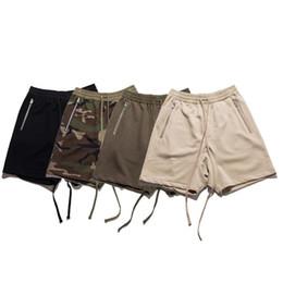 Wholesale Fitness God - Fear Of God Shorts Men Summer Camouflag Solid Fashion FOG Straight Capris Fit Casual Mens Shorts Fitness Fear Of God Shorts