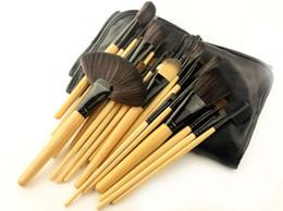 Изготовление шерстяных мешков онлайн-24 шт. Волокна шерсти многофункциональная косметическая щетка матч ПУ кисть сумка макияж инструмент набор кистей для макияжа кисточки для пудры 60 компл
