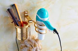 Wholesale Hair Wall Hanged - Free punching blower holder,Wall hang bathroom electric hair dryer shelf suction type,Toilet air duct rack,bathroom organizer bronze