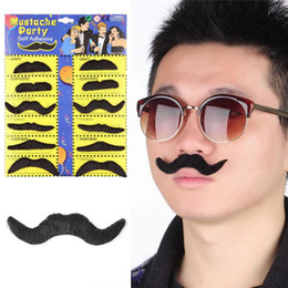 Wholesale Fake Cosplay Beards - 12pcs Creative funny costume pirate party halloween cosplay fake mustache moustache funny fake beard whisker for kids adult c284