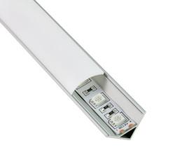 Wholesale Light For Corner - 50 X 1M sets lot Al6063 T6 60 degree Led corner profile and aluminum channel profiles for SMD3528 kitchen led or cabinet lighting