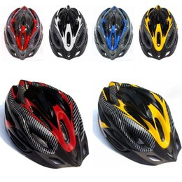 Wholesale Mens Mountain Bike Helmets - Cycling Bicycle Adult Mens Bike Helmet Red carbon color With Visor Mountain New