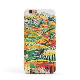 Wholesale Vincent Wholesale - 20PCS lot Imajination Phone Cases Sunflower Vincent Van Gogh Starry Sky Oil Painting Back Cover for iPhone 6 6plus 7Plus Phone Cases
