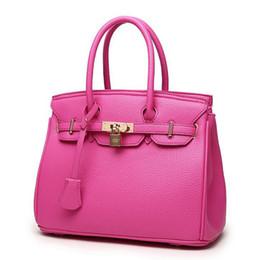 Al por mayor-Nueva Moda Original Orange Top de alta calidad de bloqueo de lujo bolsos de diseño Famous Brand Real Women Bag Bags Totes FR028 desde fabricantes