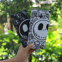 Wholesale Pu Jack Black Women - Christmas Night Cry Jack the head Skull head men and women Growth section buckle Cartoon cute wallet