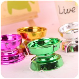 Wholesale Plastic Weight Plates - Gold-plated yo-yo recreational toys for children Children gifts wholesale single weight 13 g