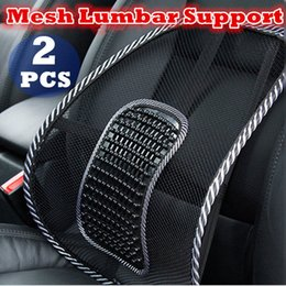 coussins de soutien lombaire Promotion 2x Mesh Back Rest Lumbar Support Chaise de bureau Van Car Seat Home Pillow Cushion