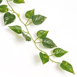 Canada Gros-2 m feuille de lierre artificielle plantes plantes vigne faux feuillage fleurs décor à la maison en plastique fleur artificielle rotin Evergreen Cirrus cheap artificial ivy plastic Offre