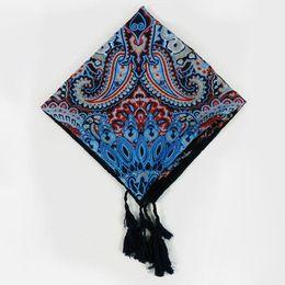 Wholesale Hijab New Design - Wholesale- Hot 2016 New Design Women Tassel Cashew Totem Print Square Scarf Musim Hijab Headband Shawl Nation Style wrap
