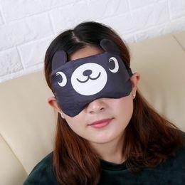 Wholesale Korean Sleep Eye - Korean cartoon cute ice compress eye mask sleep shading portable travel rolls shading memory cotton goggles