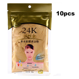mask shipping Promo Codes - Wholesale 10 pcs 24K Gold Collagen Face Mask Powder for Beauty Salon Spa  Moisturizing Free shipping