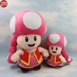Super mario cogumelos de pelúcia on-line-New Super Mario Bros Toadette Peluche Peludo Fungo Cogumelo Kart Partido Kinopiko Peach Aprox 17 cm