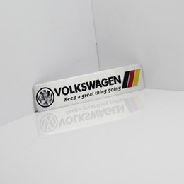 Wholesale golf flags - Germany National flag Racing Car Sticker Fit For Volkswagen Vw Plol Golf 6 Metal R Badge Motorsport Car Thin metal aluminum Emblem