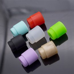 Wholesale Disposable E Cigarette Mouthpiece - Colorful TFV12 Disposable Silica Gel Drip Tip Wide Bore Silicone 510 Mouthpiece E Cigarette fit TFV8 BIG BABY Tank 528 RDA Atomizer