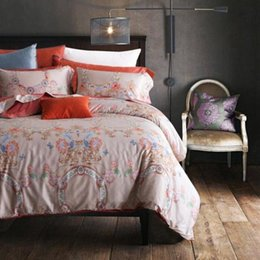 Wholesale Luxury Silk Bedding Sets - 4 Piece Bedding Sets Classical Luxury Bed Sheets Soft Cotton Printed Flower Chinese Style High Quality Sheets Quilt Pillowcase
