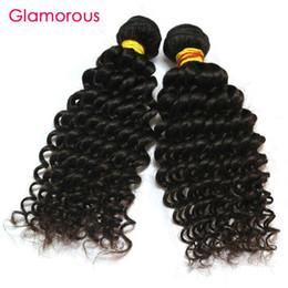Wholesale Indian Jerry - Glamorous Virgin Human Hair 3 Bundles Mix Length Malaysian Indian Peruvian Brazilian Hair Weaves Jerry Curly Hair Extensions for black women