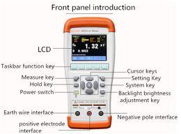 Wholesale Lcr Esr - JK825Handheld LCR Meter 10KHz L C R Q D Z Theta(Deg Rad) ESR 2.8'' TFT LCD USB